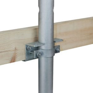 Side bracket for horizontal beam