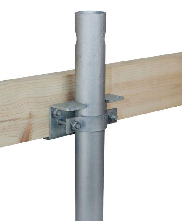Side bracket for horizontal beam
