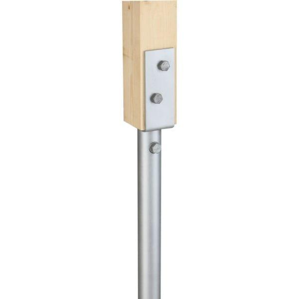 75mm U-bracket for vertical post
