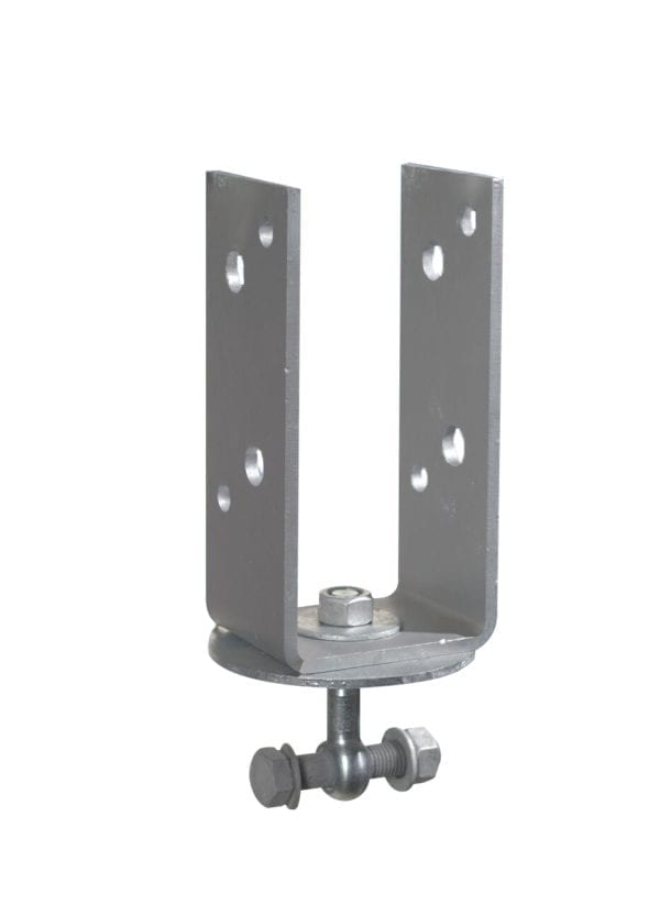 90mm U-bracket for vertical post