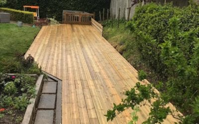 Case Study: Decking Over a Ditch Using DIY Screw Piles
